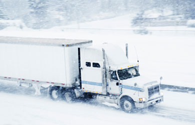 Semi Truck in Winter